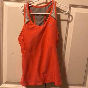 Orange Nike workout tank